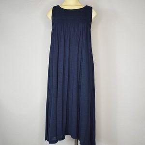 😎 Old Navy | Blue Sleeveless Knit Midi Dress | S